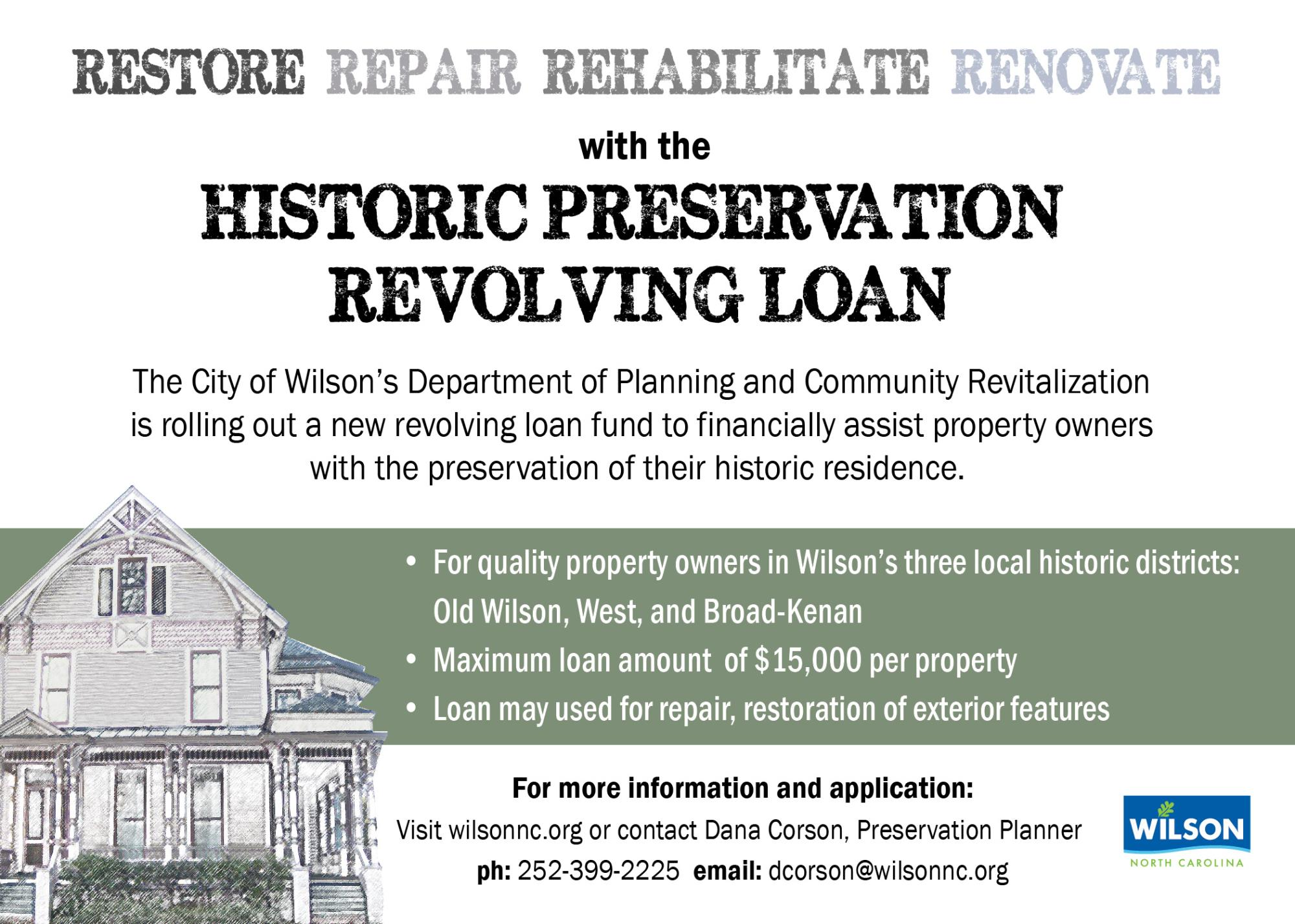 historic preservation loan information